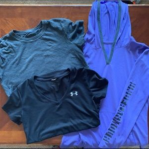 Lot of 3 under armor size small tops